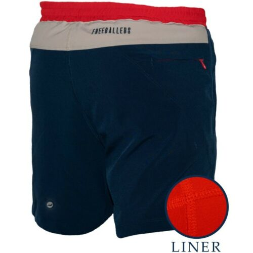 "Freeballers by Meripex 6/"" Inseam Sport Shorts with Liner"