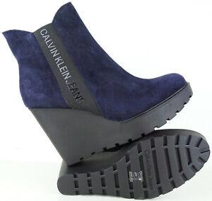 De Seraphine Bootie Ver Klein Señora Botines Zapatos Detalles Jeans Botín Original Calvin Gr38 Título Nuevo IDH9E2