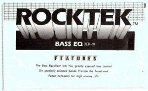ROCKTEK-BER-01Effects-Pedal-Instruction-Manual-Good-Condition