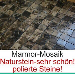 Dettagli su Molto Bello Mosaico in Top Marmo Dark Imperator Pietra Naturale  Piastrelle