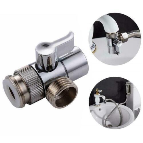 Brass Bidet Shower Head Diverter Valve Faucet Tap T-Adapter Splitter G6Y2