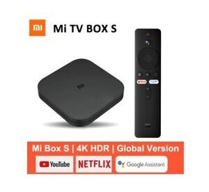 Global Version XIAOMI Mi TV Box S 4K Ultra HD TV 9.0 HDR 2GB+8GB WiFi New Sealed