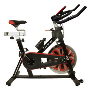 ELEV-8-Spin-Exercise-Bike-Fitness-Cardio-Workout-Machine-BLACK-RED