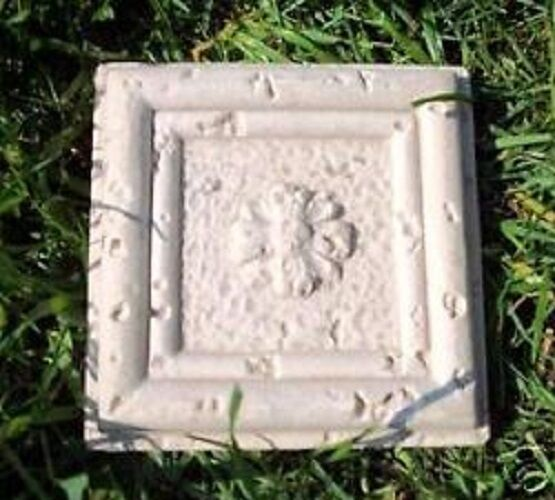 Poly plastic travertino tile mold plaster resin wax cement mould 4