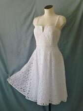 Original MILLY NY Sweet n Sexy Eyelet Fit+Flare Casual Cocktail Tea Dress~10/12