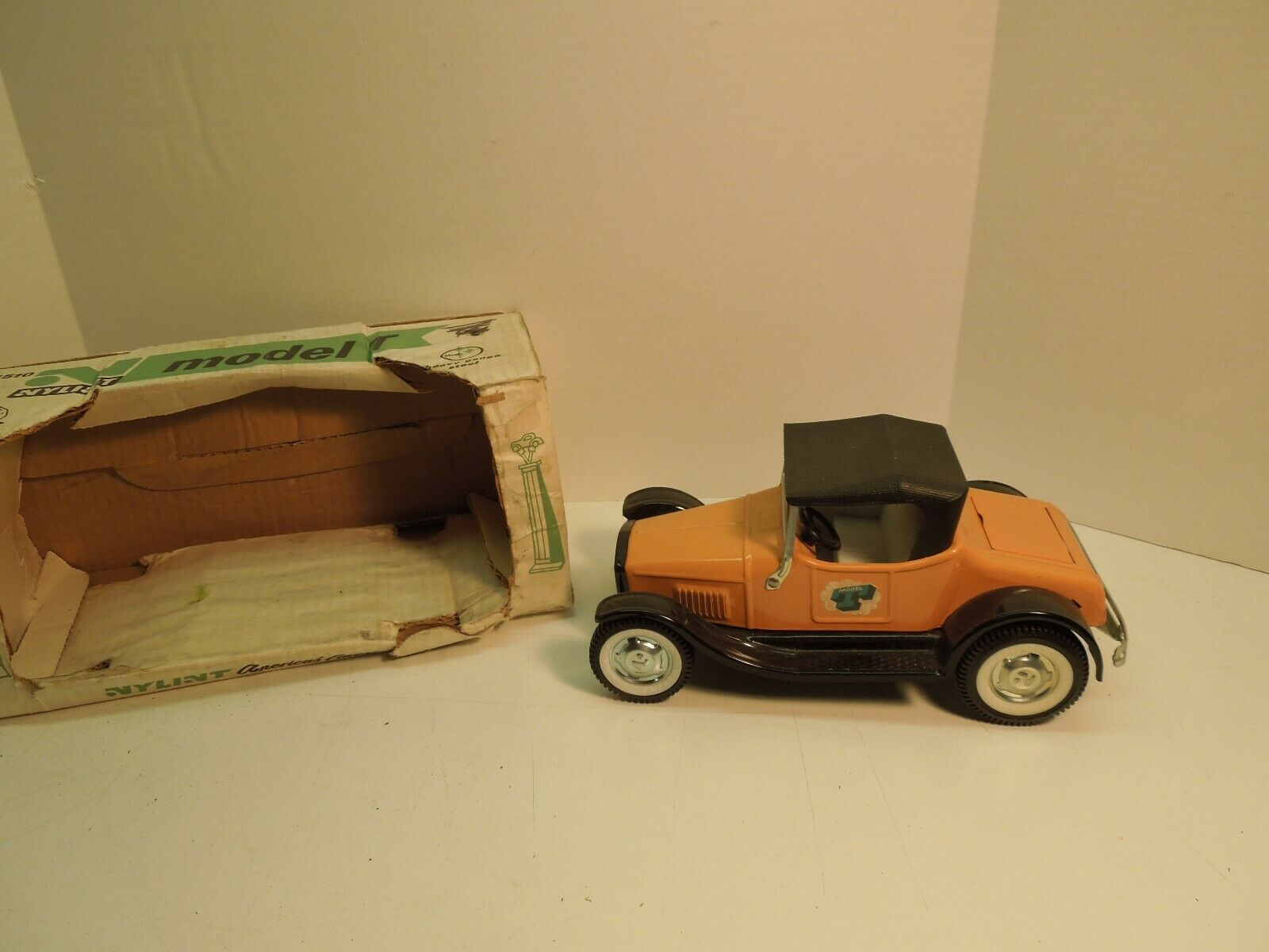 Nylint pressed steel orange Model T toy car
