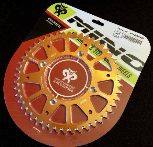 Mino Kettenrad Aluminium RACING KTM Freeride Orange eloxiert 48 Zähne