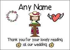 Thank You For Doing A Reading At Our Wedding Woman Personalised Print