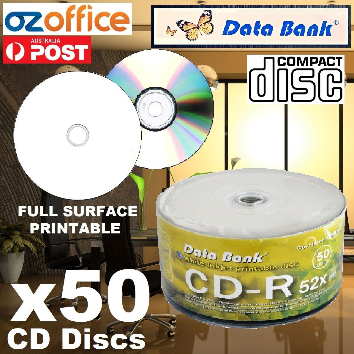 graphic about Printable Blank Cds identify Data over 50 x Details Lender CD-R Blank CD R 700MB 52X Blank CDs Finish Hub White Printable CDR