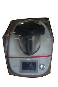 HOUSSE-DE-PROTECTION-THERMOMIX-TM5-TM31-sans-Varoma-Transparente-biais-Rouge