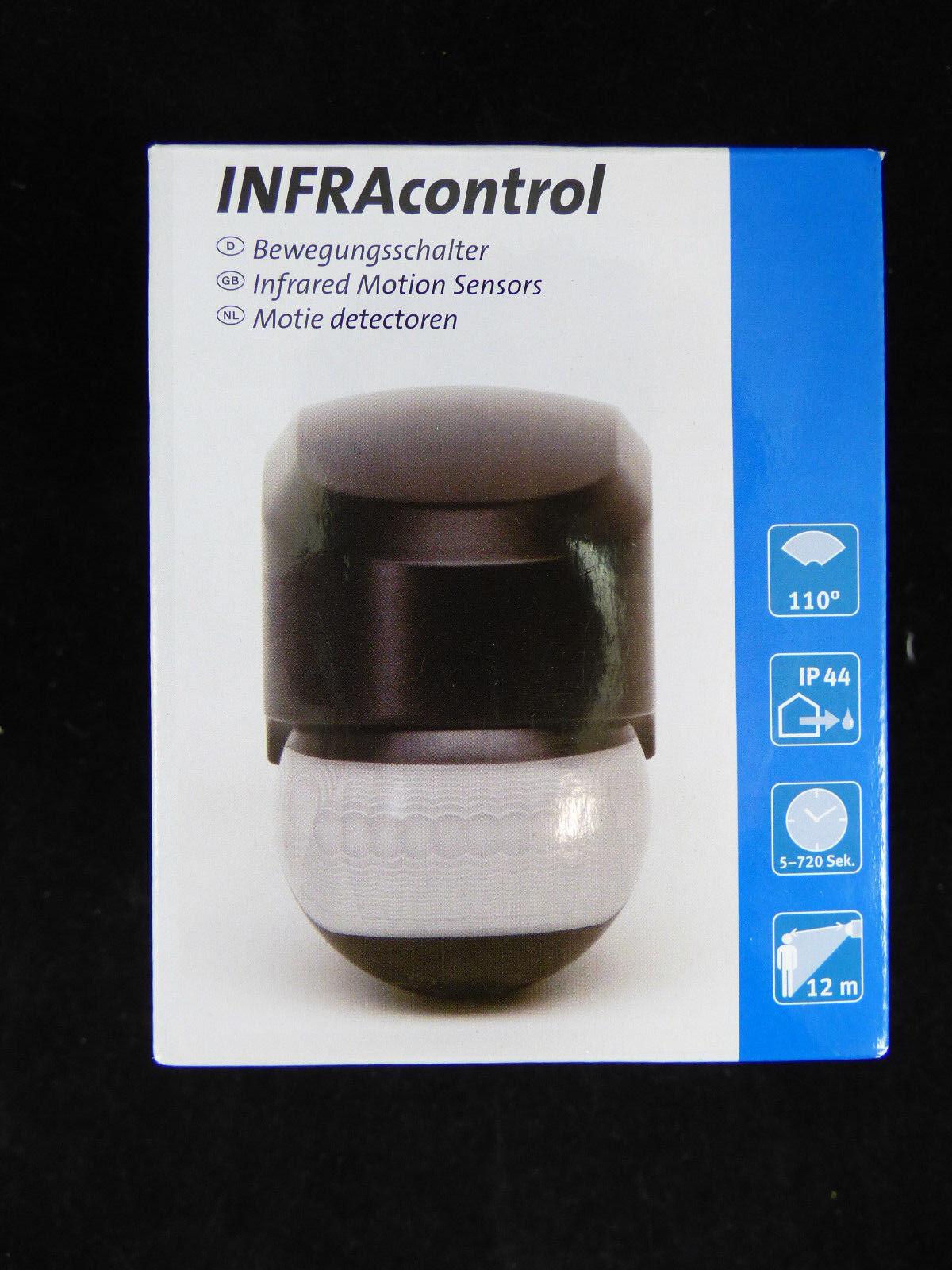 Kopp INFRAcontrol Bewegungsmelder 110 °  schwarz IP44 AP 823705014