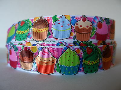 Grosgrain Ribbon, Cupcakes Candy Birthday Cake Party Candy Cherry Creations 7/8""