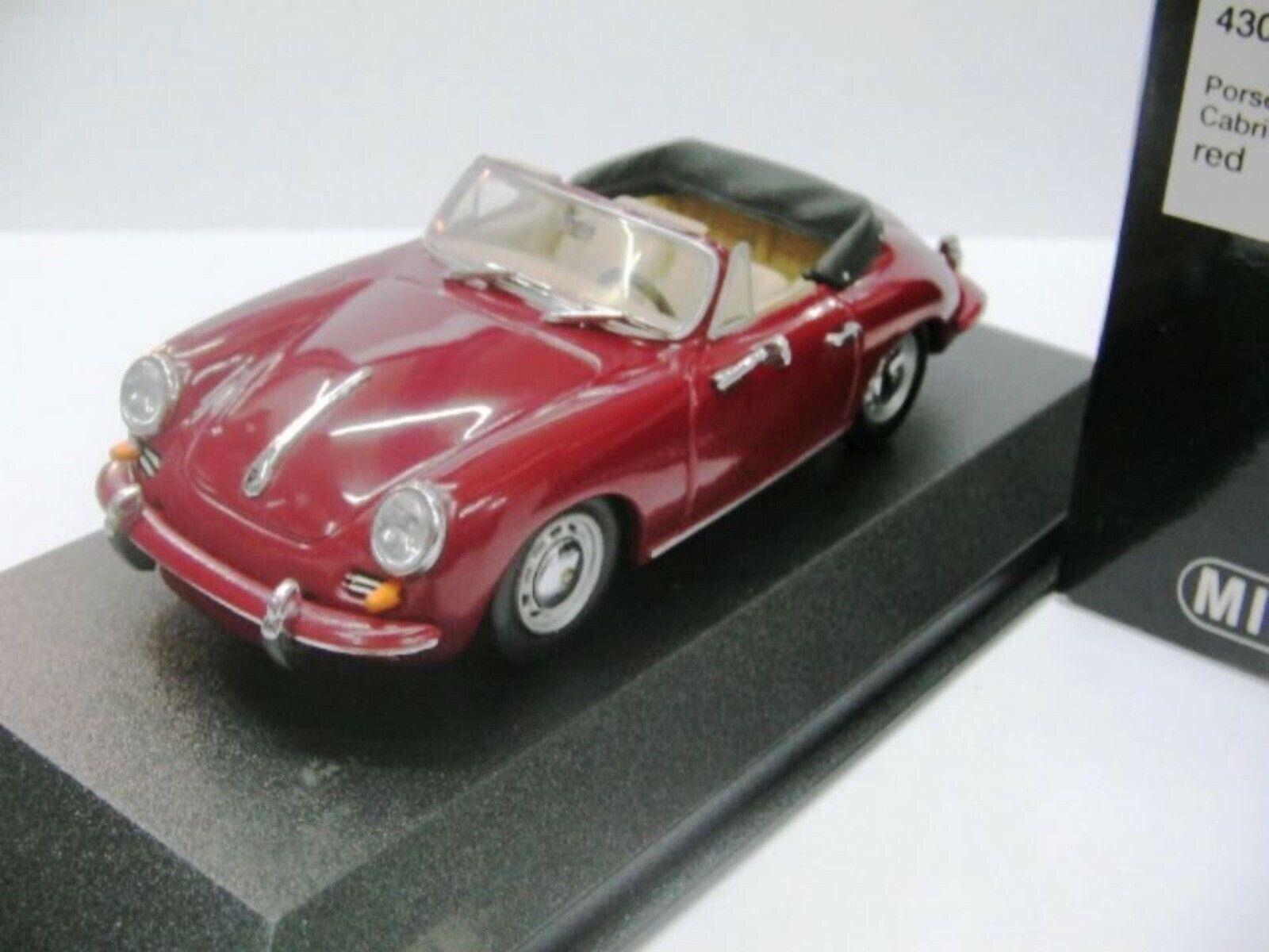 Wow extrêmement rare Porsche 356 C CABRIOLET 1963 Rub rouge-1 43 MINICHAMPS A, B, 911