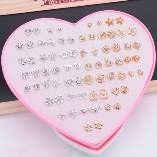 36Pairs Set Assortiment Fleur Oreille Boucles D/'Oreilles for Enfants Fille//