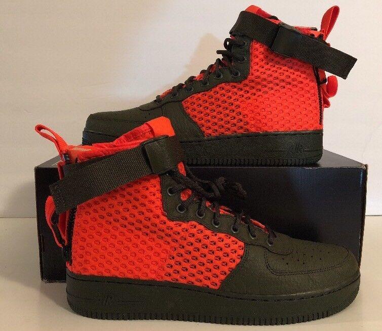 Nike SF-AF1 Air Force Special Field QS AA7345-300 Cargo Khaki Crimson Mens Sz 9