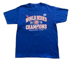 Chicago-Cubs-2016-World-Series-Champions-17-Kris-Bryant-T-Shirt-Blue-Size-L-New
