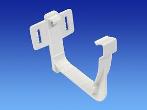 Pack of 2 X WHITE OSMA 111mm Gutter Hanging Bracket for Stormline OGEE gutter System 8T849W external