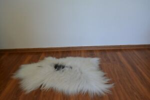 ICELANDIC White Real sheepskin rug natural genuine size Large 100x50cm A2
