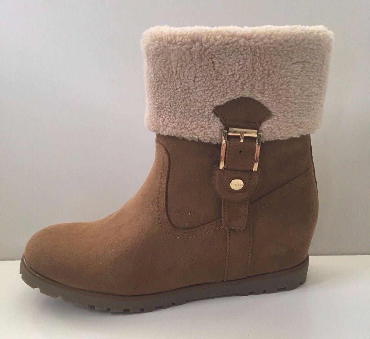 NEW Tommy HilfigerSoffia 2 Women's Wedge Suede Boots Shoes Sz 7.5M