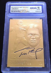 TOM-BRADY-2005-AUTOGRAPHED-WCG-GEM-MINT-10-23KT-GOLD-CARD-PATRIOTS-LEGEND