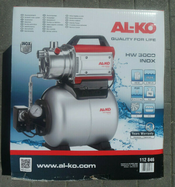 AL-KO Hauswasserwerk HW 3000 Inox Classic