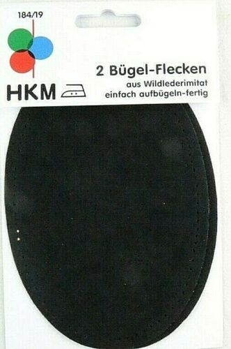 Flickstoff 2 perchas manchas de gamuza-imitacion para plancha o aufnähen