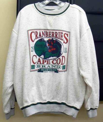 Vtg Cuffy's of Cape Cod Cranberries Cape Cod Sweat