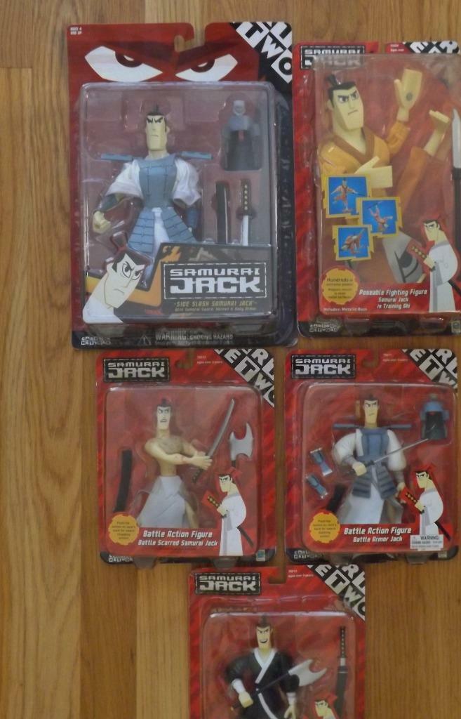 5 NIB Samurai Jack First Edition Cartoon Network 2001