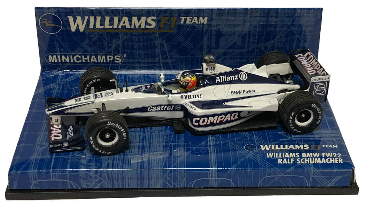 Minichamps Williams F1 BMW FW22 2000-Ralf Schumacher 1 43 Scale