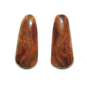 Pietersite Cabochon 21.5x9mm with 4mm dome set of 2 (11659)