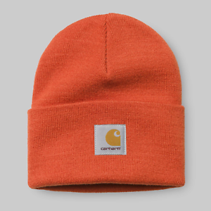 f0524118384 Image is loading Carhartt-cap-Acrylic-Watch-hat-hamilton-persimmon-beanie-