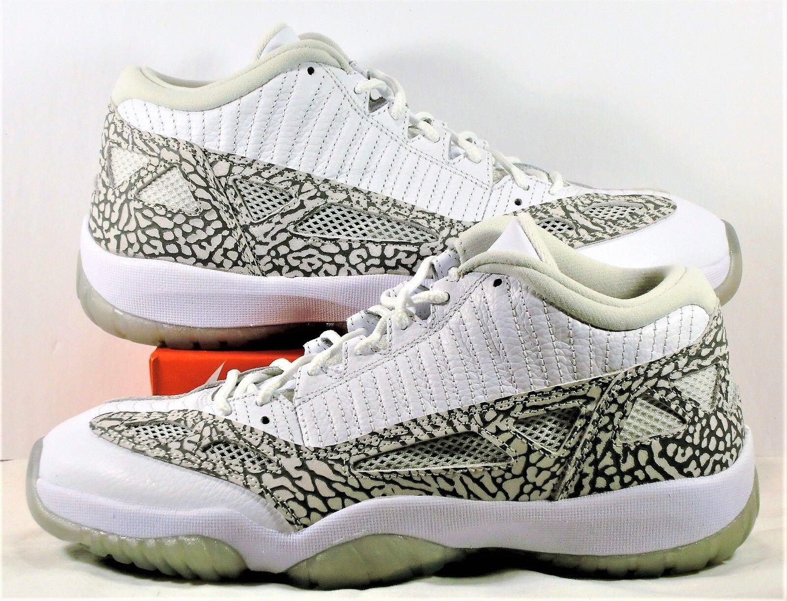 Nike Air Jordan Retro 11 XI Low White Cobalt & Zen Grey Sz 9.5 NEW 306008 102