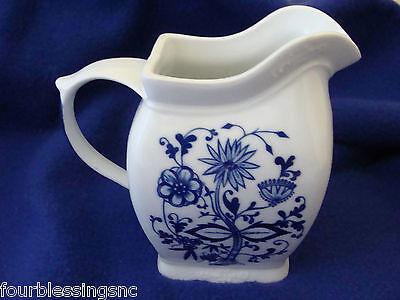 Blue On White Floral Porcelainceramic Pitchervase 6 12 Tall