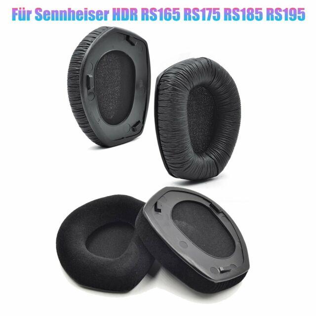 2*Neu Ersatz der schwarzen Ohrpolster für Sennheiser HDR RS165 RS175 RS185 RS195
