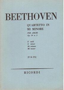 Beethoven-Quartett-Fuer-Boegen-IN-Mi-Minore-op-59-N-2-Musiknoten-Pocket-Ricordi