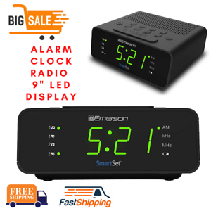 Sleep Time Emerson SmartSet Alarm Clock Radio with AM//FM Radio Dimmer
