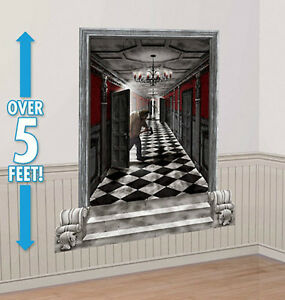 GOTHIC MANSION HALLWAY Scene Setter Halloween Party wall ...
