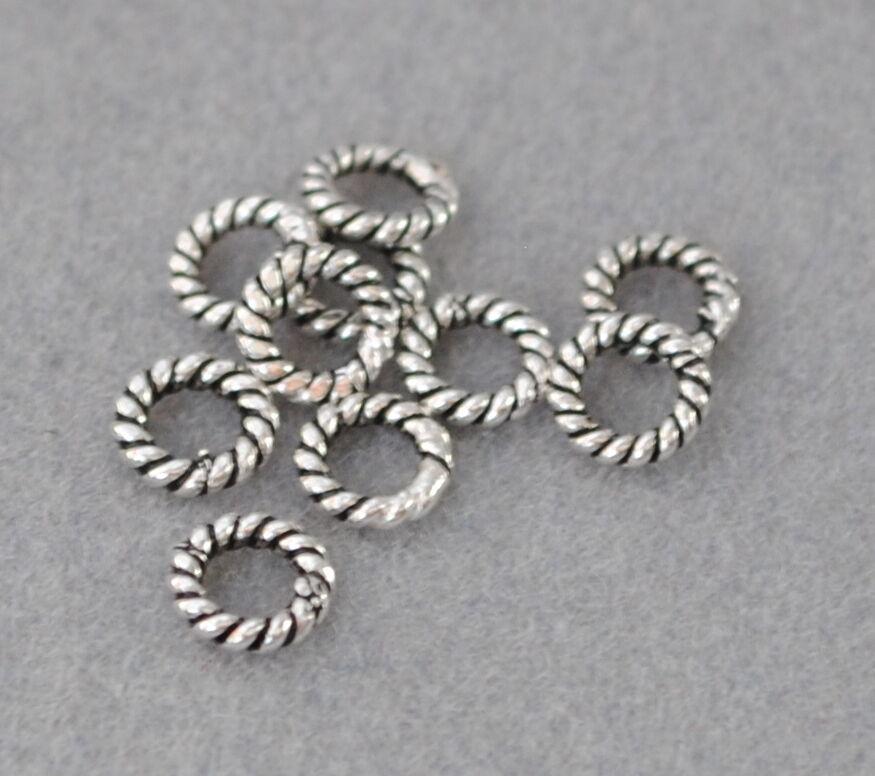 Charms Spacer Perlen DIY Vintage Schmuck 925 Silber Zwischenteile Altsilber
