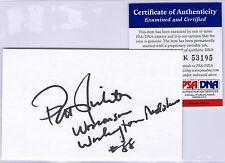 Pat Richter Psa/Dna Auto Index Card Signature - Wisconsin Badgers Redskin - T793