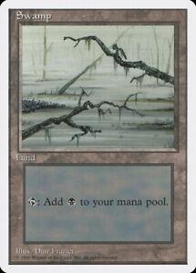 Land Card Unlimited Edition Magic The Gathering MTG Swamp C