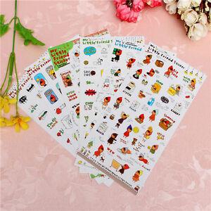 6-Sheets-Cartoon-Cute-Girl-Planner-Paper-Stickers-Scrapbook-Calendar-Decoration