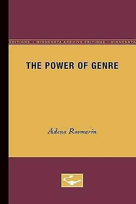 The Power of Genre, Rosmarin, Adena, Used; Good Book