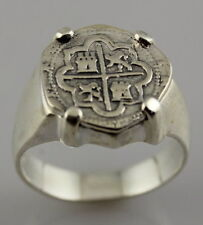 ATOCHA 1622 COIN RING PIRATE SILVER KEY WEST SUNKEN TREASURE MELFISHER 1985 FIND