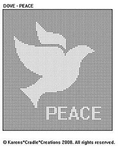 Dove Peace Filet Crochet Pattern Ebay