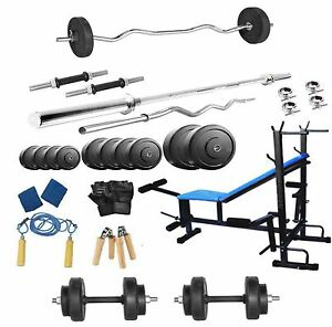Protoner 50 Kg With 8 In 1 Bench Weight Lifting Home Gym Fitness Pack