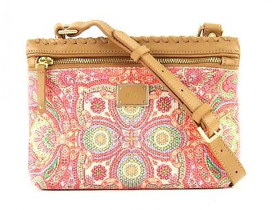 Brillante Oilily Whip Stitch S Flat Shoulder Bag Coral
