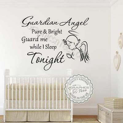 Guardian Angel Nursery Wall Sticker
