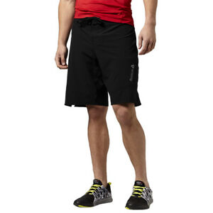 Image is loading Reebok-Les-Mills-Board-Short-Unisex-Training-Shorts-