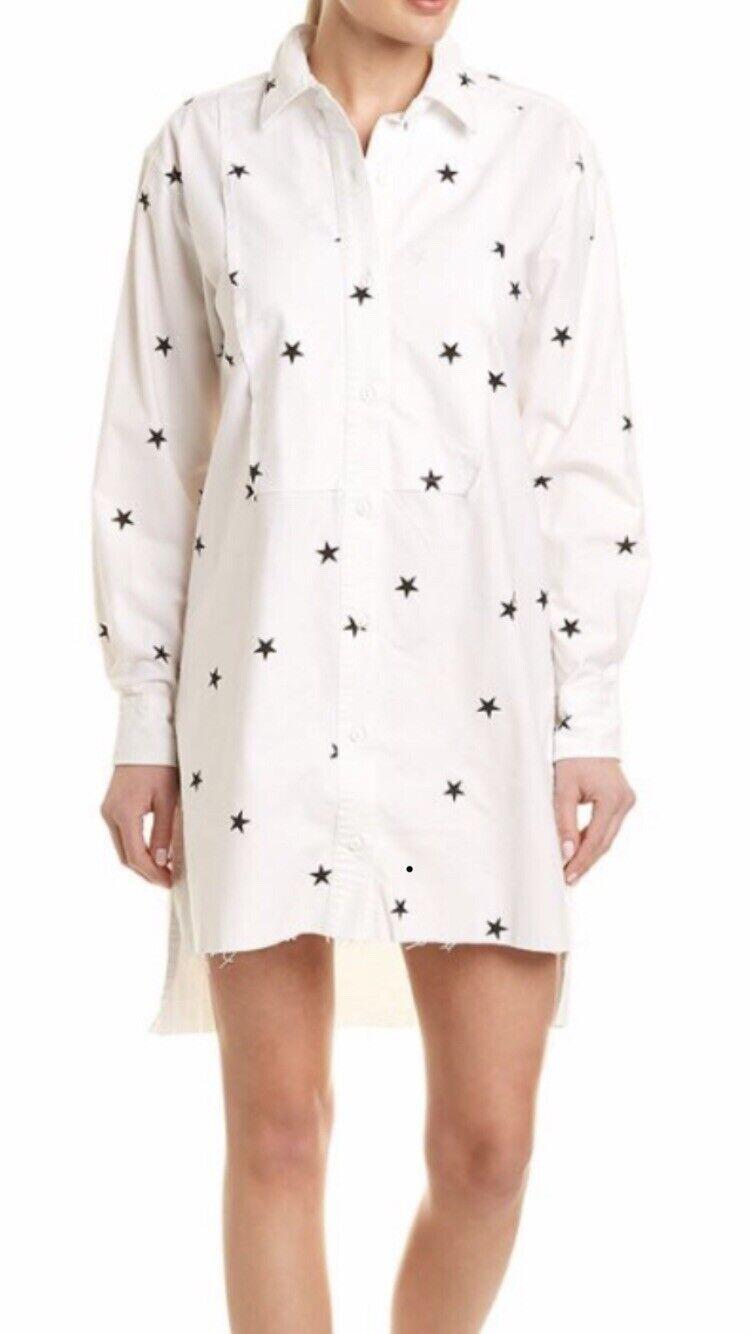 Current Elliott damen The Rosie Star  Shirt Dress  Button Down Größe 2 med