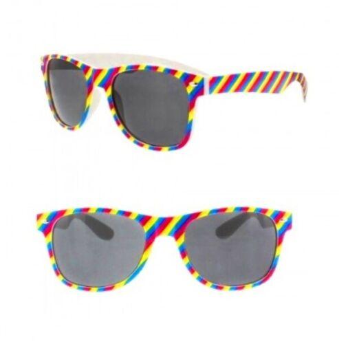 Flag Coloured GLASSES Pride Rainbow Clear Lens Novelty Gay Festival UK LGBTQ